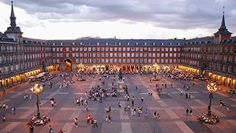 Piazza principale (Plaza Mayor) a Madrid, Spagna